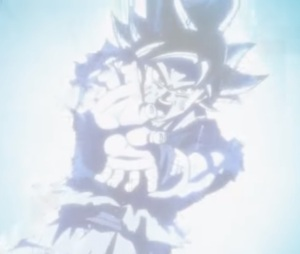 Goku ultra instinct Kamehameha blast Dragon Ball Super