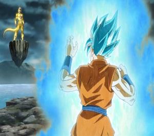 Super Saiyan blue goku VS golden frieza Dragon Ball Z: Resurrection F