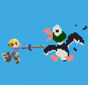 Toon Link Duck Hunt Stage super Smash Bros ultimate Nintendo Switch