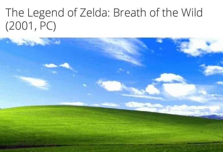Memes The Legend of Zelda breath of the Wild Windows XP
