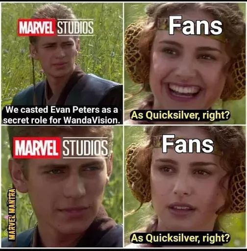 Memes evan Peters quicksilver mcu