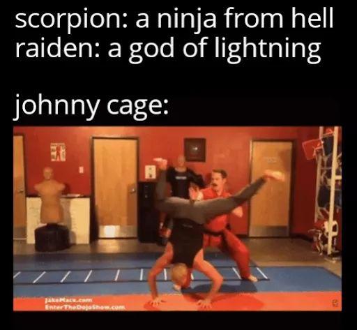 Memes Johnny cage mortal kombat