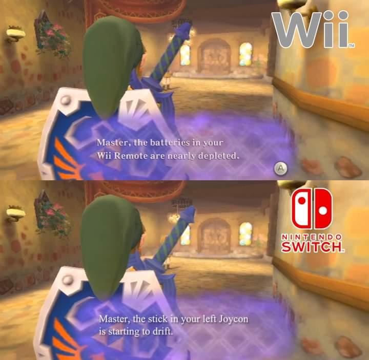 Memes the Legend of Zelda skyward sword wii vs Switch