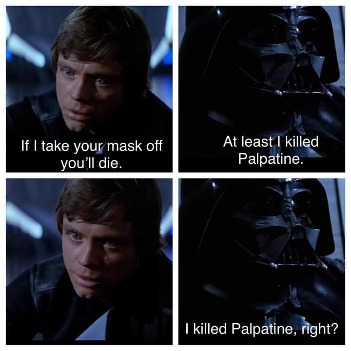 Memes Darth Vader killing Palpatine