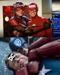 Memes Warner Brothers and DC versus Disney and Marvel