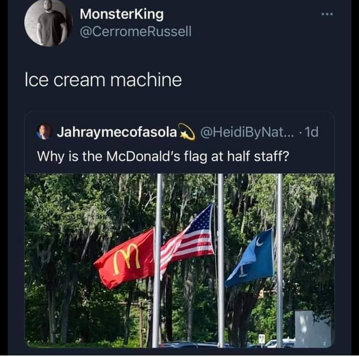 Memes McDonald's ice cream machine
