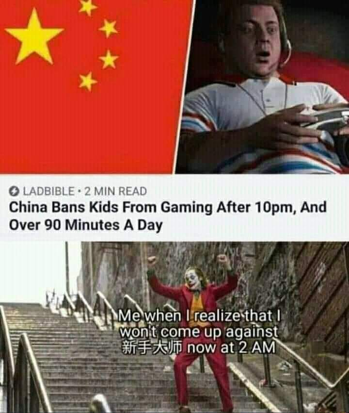Memes Chinese video gamers