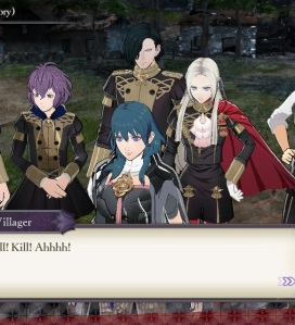 Byleth teaching the black eagles fire Emblem three houses Nintendo Switch