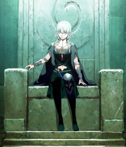 Sothis fusion Byleth sitting down fire Emblem three houses Nintendo Switch