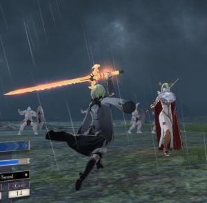 Byleth vs lady Rhea swordfight fire Emblem three houses Nintendo Switch