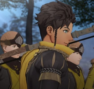 Claude leading troops fire Emblem three houses Nintendo Switch