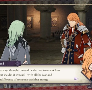 Ferdinand talking with byleth fire Emblem three houses Nintendo Switch