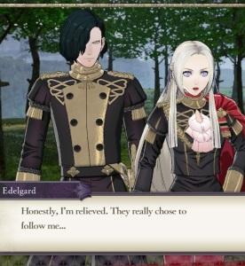 Hubert and lady Edelgard fire Emblem three houses Nintendo Switch