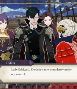 Hubert brings good news to lady Edelgard fire Emblem three houses Nintendo Switch