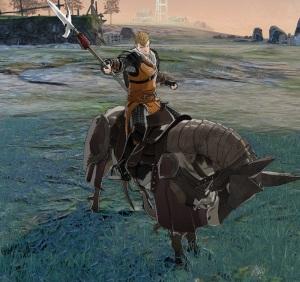 Jeralt horseback with Lance fire Emblem three houses Nintendo Switch