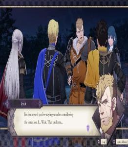Jeralt meeting Edelgard Dimitri and Claude fire Emblem three houses Nintendo Switch
