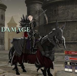 Jeritza with black horse and scythe fire Emblem three houses Nintendo Switch