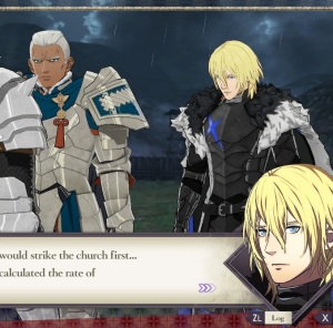 Dimitri leading troops against Lady Edelgard fire Emblem three houses Nintendo Switch