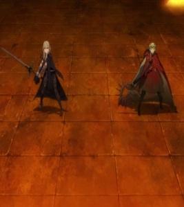 Edelgard and Byleth kill Lady Rhea fire Emblem three houses Nintendo Switch