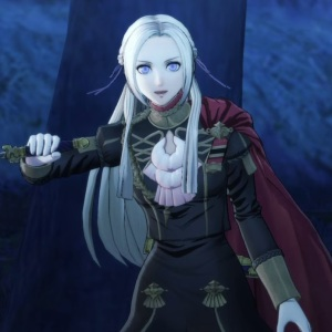 Edelgard with dagger fire Emblem three houses Nintendo Switch