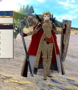 Emperor Edelgard axe and shield fire Emblem three houses Nintendo Switch
