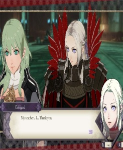 Edelgard thanks Byleth for joining her side fire Emblem three houses Nintendo Switch