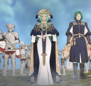 Lady Rhea and her brother fire Emblem three houses Nintendo Switch