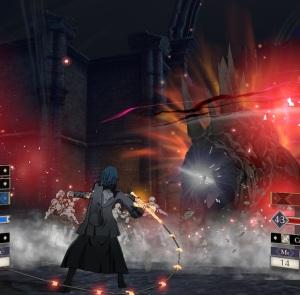 Miklan monster boss battle  fire Emblem three houses Nintendo Switch