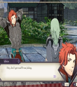 Sylvain flirting with byleth fire Emblem three houses Nintendo Switch