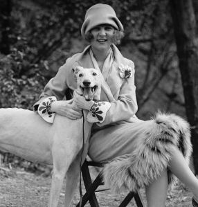 Flapper with greyhound 1920s