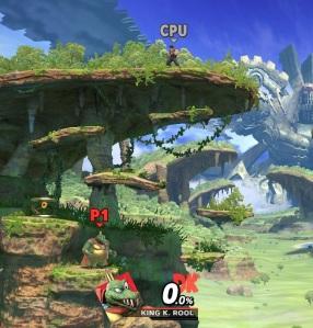 King K Rool Vs Ryu Gaur Plain Stage super Smash Bros ultimate Nintendo Switch Xenoblade Chronicles
