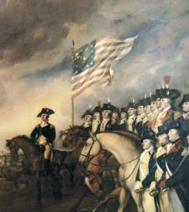 George Washington leading American troops
