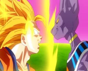 Saj3 goku VS lord Beerus Dragon Ball Z: Battle of Gods