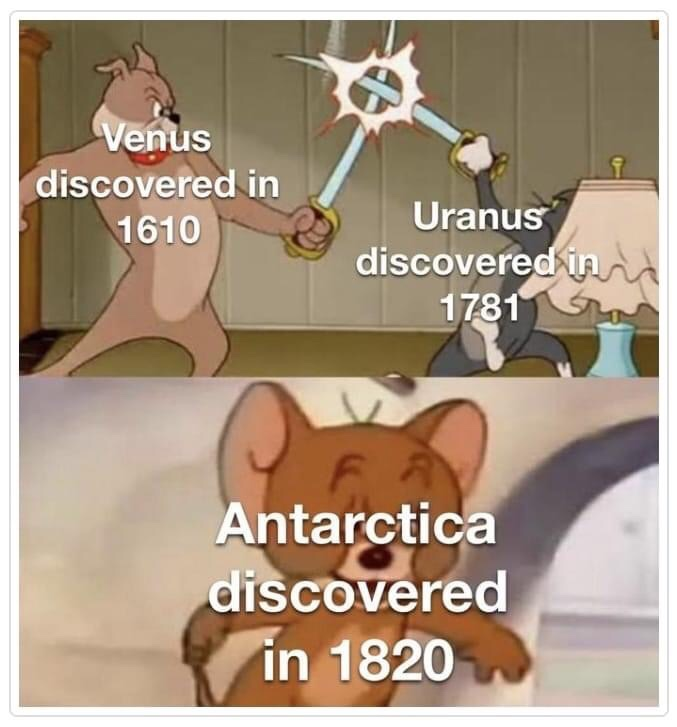 Memes Antarctica discovery