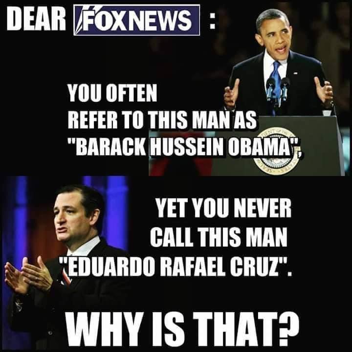 Memes Fox News Ted Cruz versus Barack Obama