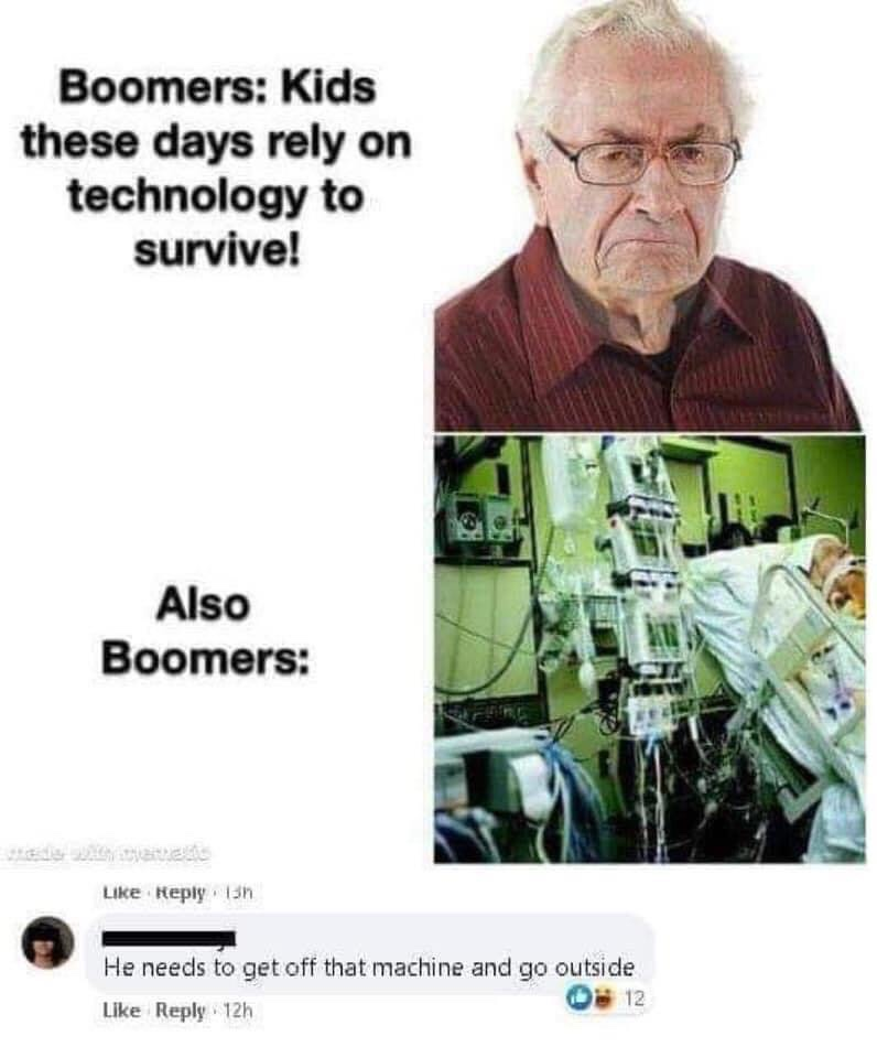 Memes Baby boomers complaining about technology