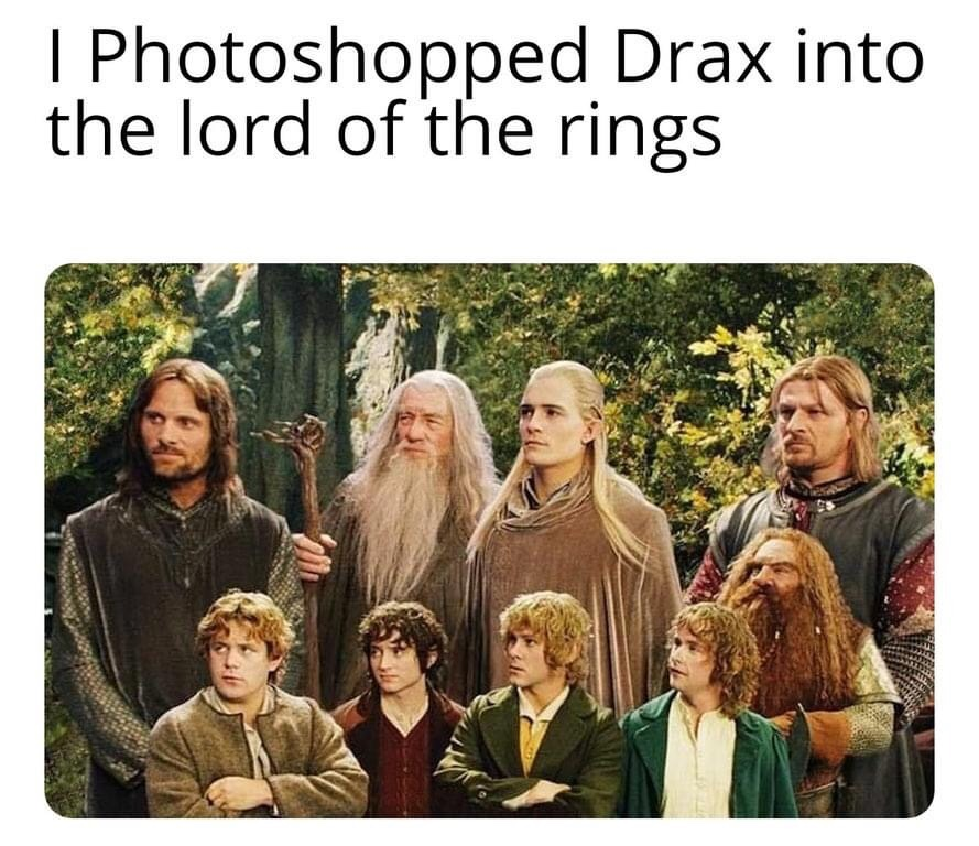 Memes Lord of the rings guardians of the galaxy