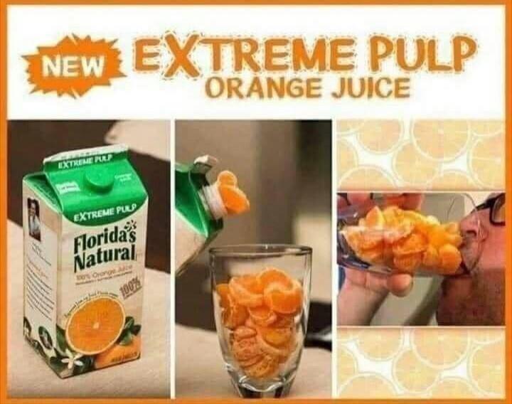 Memes Extreme pulp orange juice