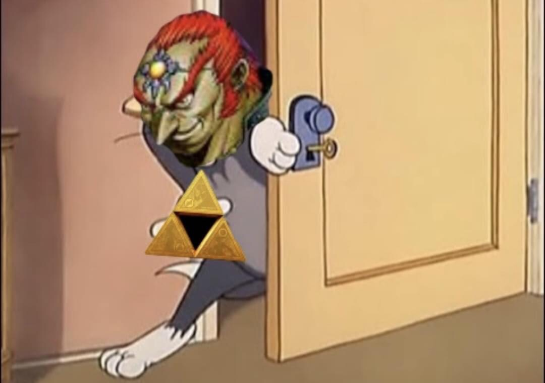 Memes The legend of the ocarina of time Ganondorf taking the Tryforce