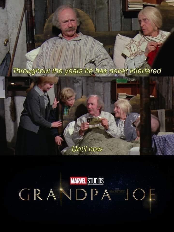 Memes grandpa Joe Willy Wonka