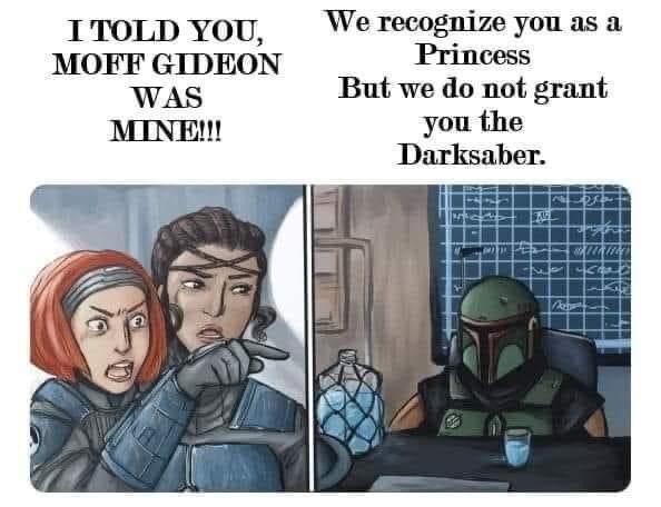 Memes Star Wars the Mandalorian dark saber