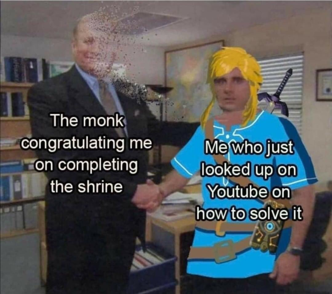 Memes beating a shrine the legend of Zelda breath of the wild Nintendo switch