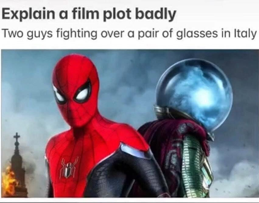 Memes Spiderman far from home