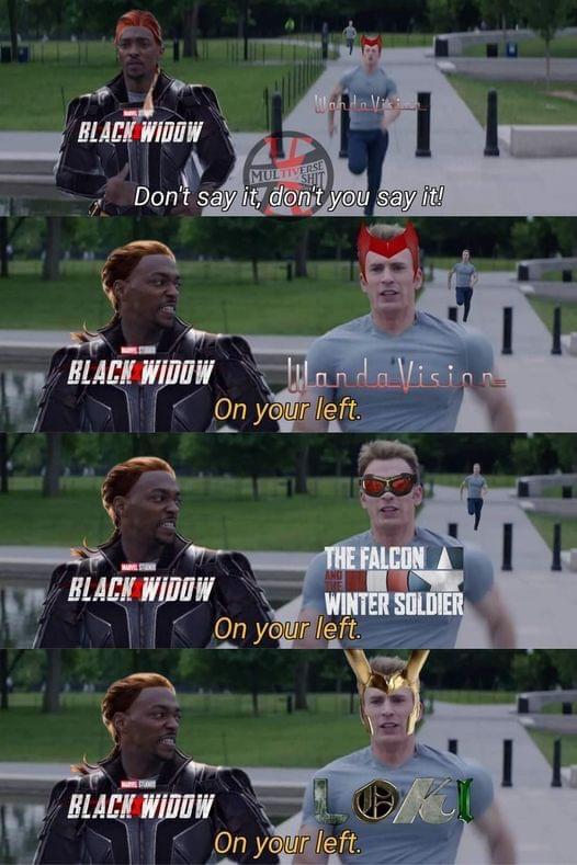 Memes Black widow movie MCU