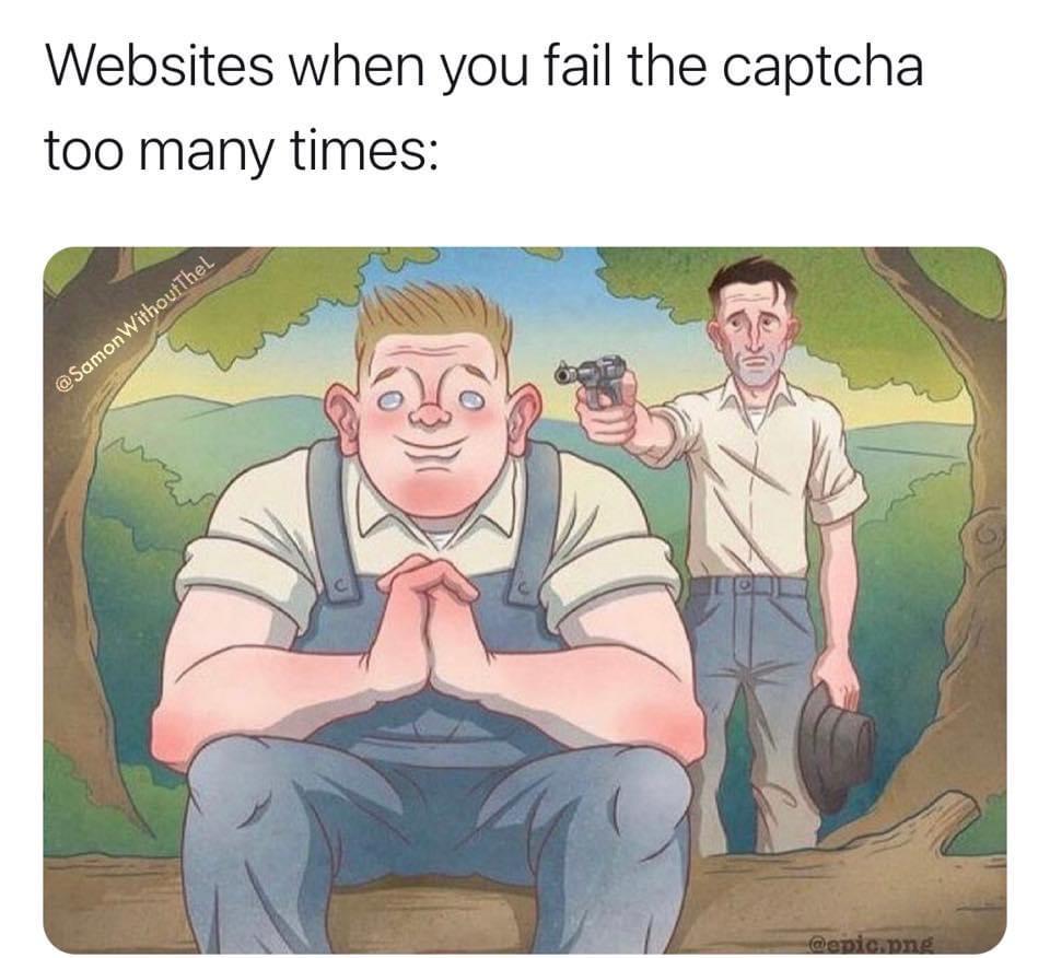 Memes failing the captcha test