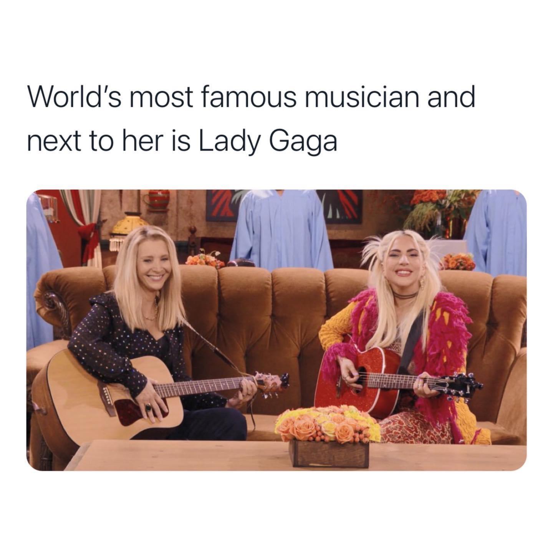 Memes Friends reunion Lady Gaga Lisa Kudrow smelly cat  phoebe Buffay