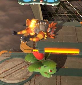 Ivysaur vs Incineroar super Smash Bros ultimate Nintendo Switch