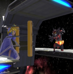 Incineroar vs princess peach super Smash Bros ultimate Nintendo Switch
