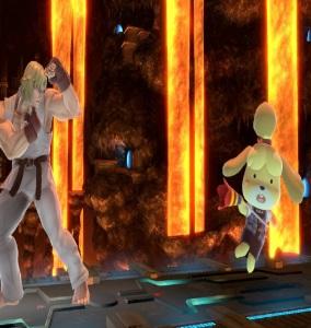 Isabelle vs ken masters super Smash Bros ultimate Nintendo Switch animal crossing