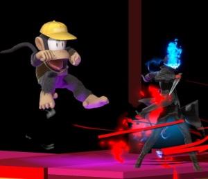 Joker vs diddy Kong super Smash Bros ultimate Nintendo Switch atlus